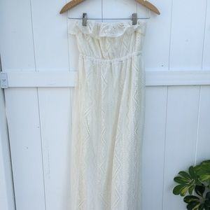 Crochet strapless dress